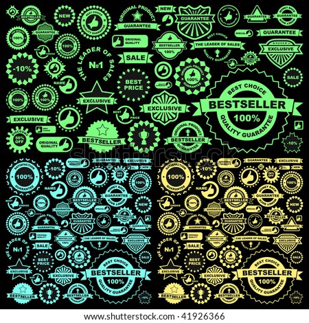 Set of design elements for sale. Vector great collection. - stock vector