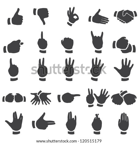 set of desture icons - stock vector