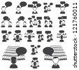 Set of dialog icons - stock