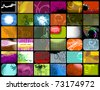 set of 36 different abstract backgrounds, vector - stock photo