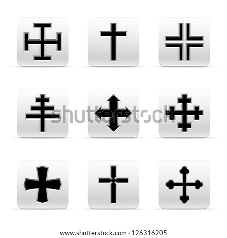 set of different crosses