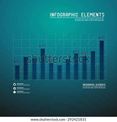 Set of different graphs and charts, vector eps10 illustration