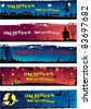 Set of different Halloween banners with space for your text - stock vector