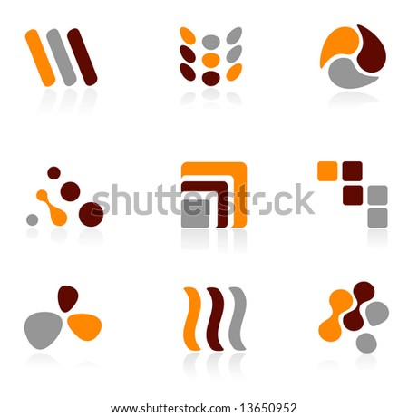 Set of different logo icons - stock vector