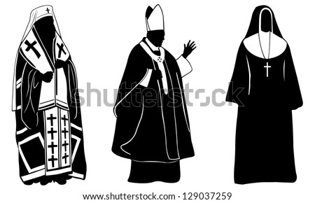 set of different religious people - stock vector