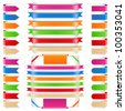 Set of different ribbons, vector eps10 illustration - stock vector