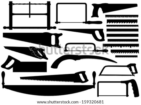 Set of different saws