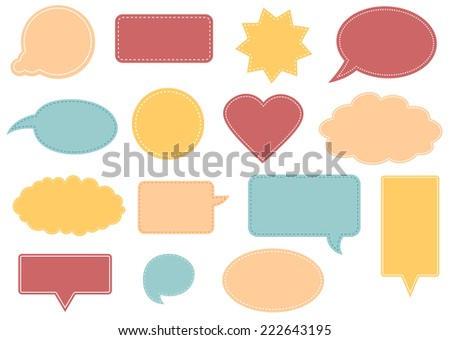 Set of different shape text frames. - stock vector