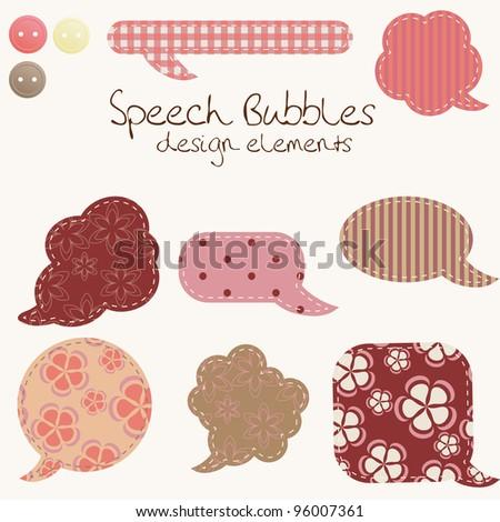 set of different speech bubbles, design elements - stock vector