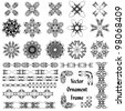 set of different vector ornaments - stock vector