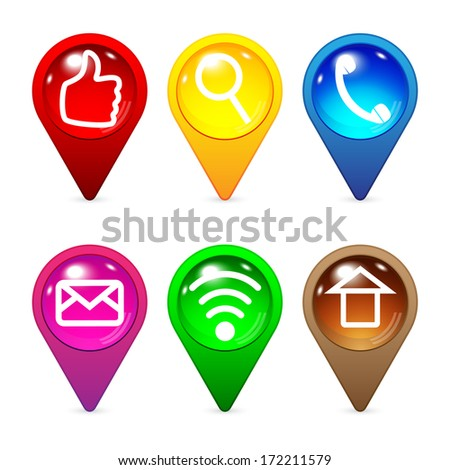 Set of different web Icons graphics for web design collections - stock vector