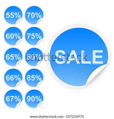 Set of discount labels. Part two - stock vector