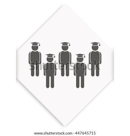 Set of diverse college or university graduation students. - stock vector
