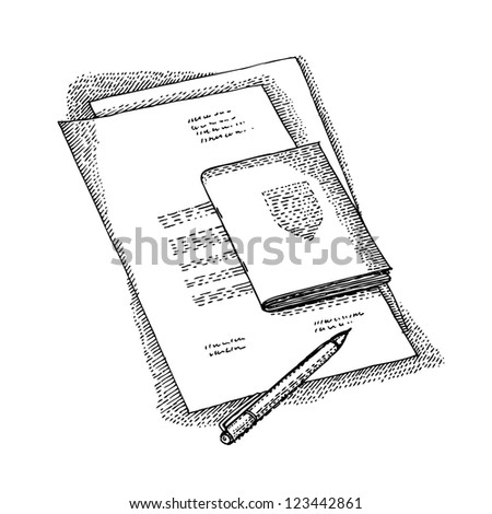 Set of documents - stock vector