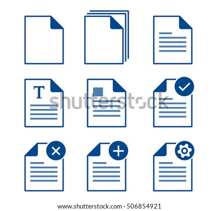 Set of documents icons