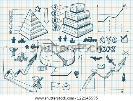Set of doodles. diagrams - stock vector