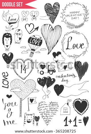 Set of doodles - Valentine's Day. Vol. 2 - stock vector