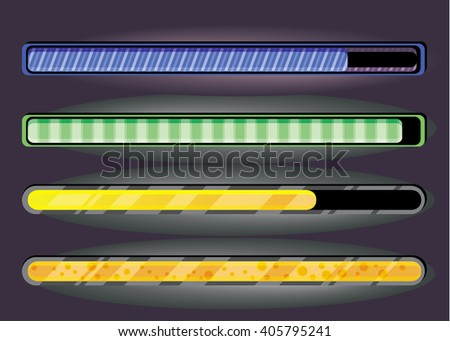 Set of download bar in EPS 8 format. - stock vector