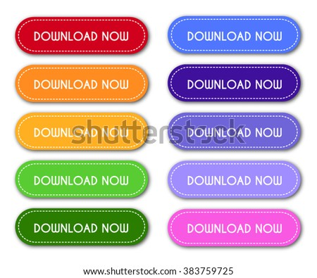 Set of 'Download Now' Buttons - stock vector