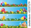 Set of Easter decor elements - stock vector