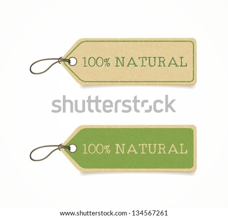 set of eco friendly labels - stock vector