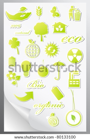 Set of ecology icons. Vector illustration