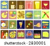 Set of editable food and drink vector icons - stock photo