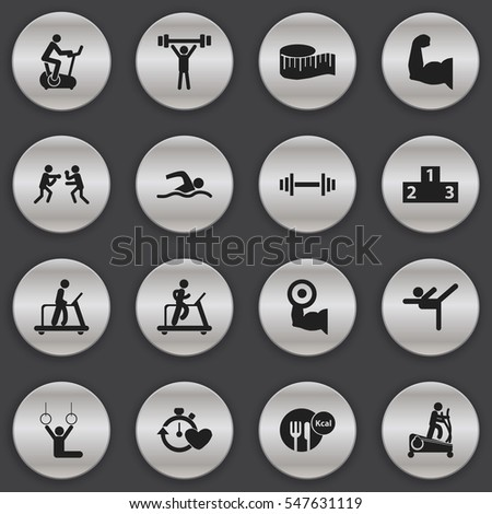 Set Of 16 Editable Lifestyle Icons. Includes Symbols Such As Cloth Ruler, Instruction Male, Health Time And More. Can Be Used For Web, Mobile, UI And Infographic Design.