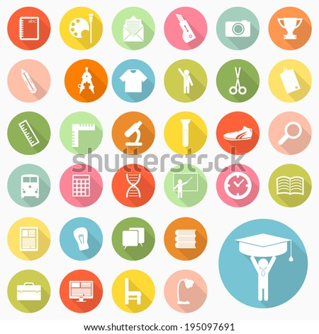 Set of education icons design