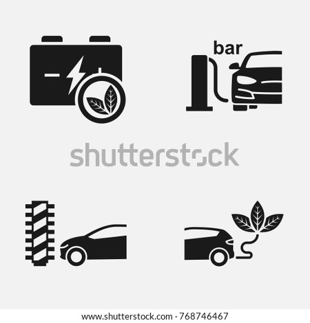 Set Electric Car Car Wash Other Stock Vector 768746467 Shutterstock