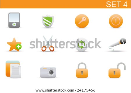 set of elegant simple icons for common computer functions. Set-4