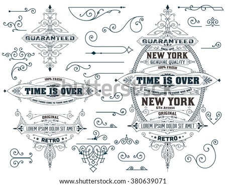 Set of elements and  banners - stock vector