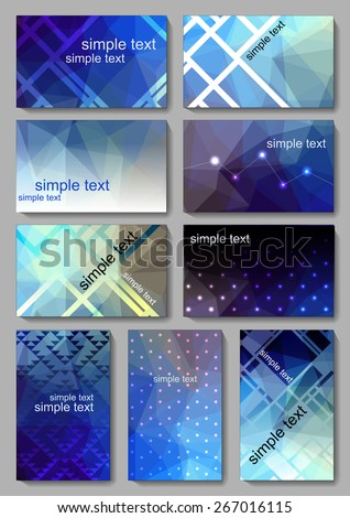 Set of elements for design. Set of Falyer, Brochure Design Templates. Geometric Triangular Abstract Modern Backgrounds. . - stock vector