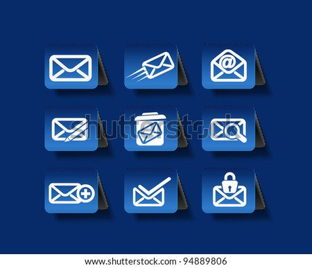 Set of Email Icons graphics for web icon collections. - stock vector
