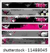 Set of Emo banners.  To see similar, please VISIT MY GALLERY.   - stock vector