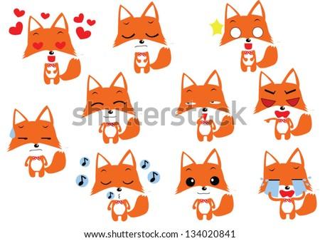 Cute cartoon fox face - photo#18