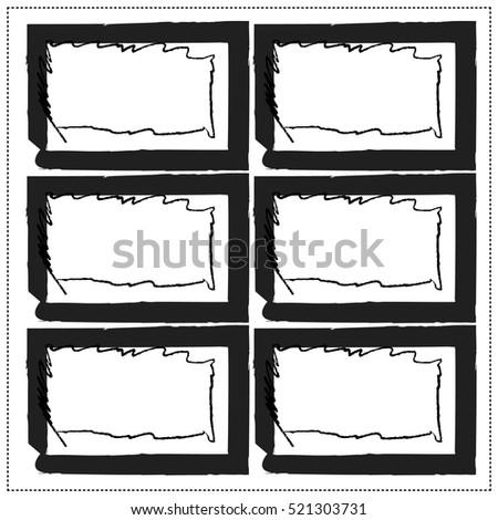 Set of empty grunge stamp, sticker, graphic design elements, black isolated on white background