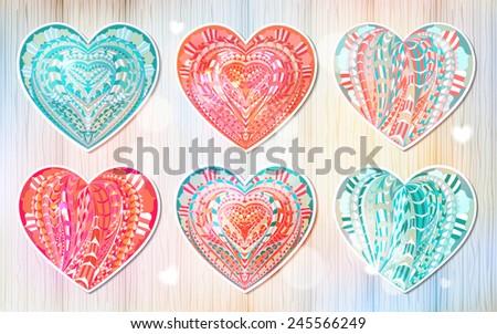 Vintage Hearts 250767685