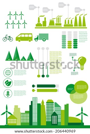 Set of factory infographics, factory info graphics vector illustrator