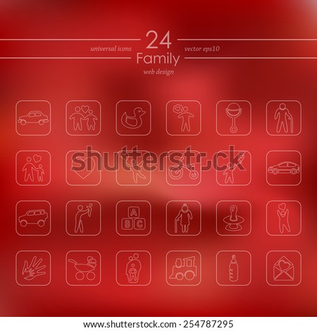 Set of family icons - stock vector
