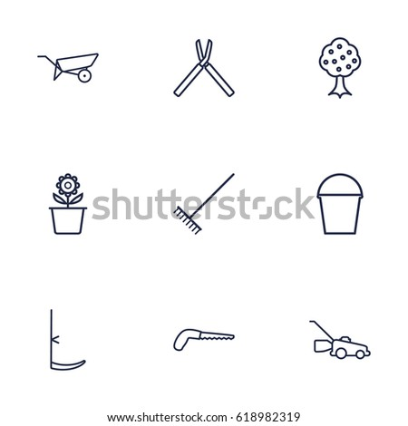 Vector Garden Tools Stock Vector 51663031 Shutterstock