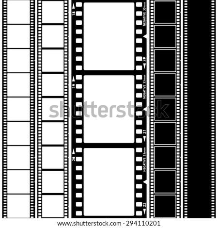 Set of film frame, vector illustration - stock vector