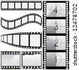 set of film vector - stock vector