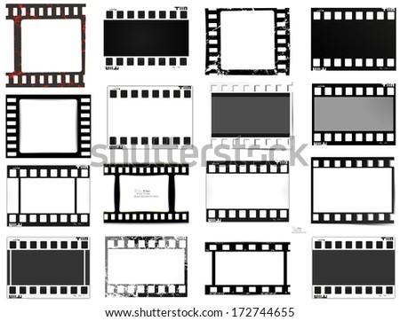 set of films - stock vector
