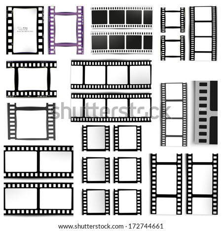 set of films - stock vector