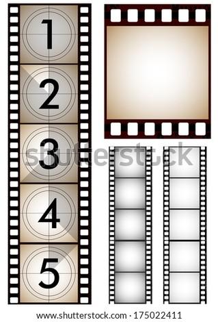 Set of filmstrip - stock vector