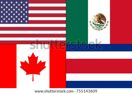 canada united states america usa mexico stock illustration