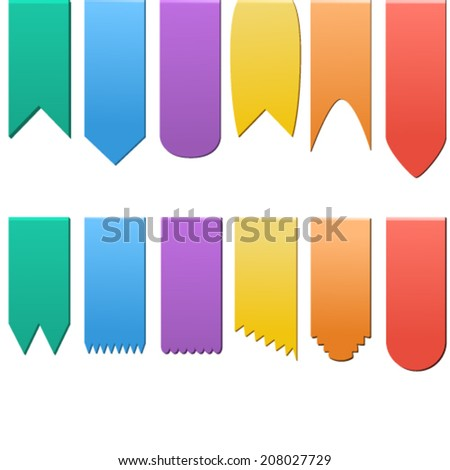 set of flags on a white background, vector illustration