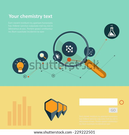 Set of flat design concepts for web and printing. - stock vector