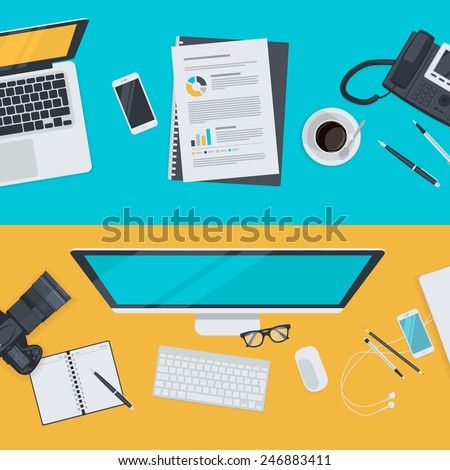 Set of flat design illustration concepts for advertising, business, e-commerce, social network. Concepts for web banners and promotional materials.   - stock vector